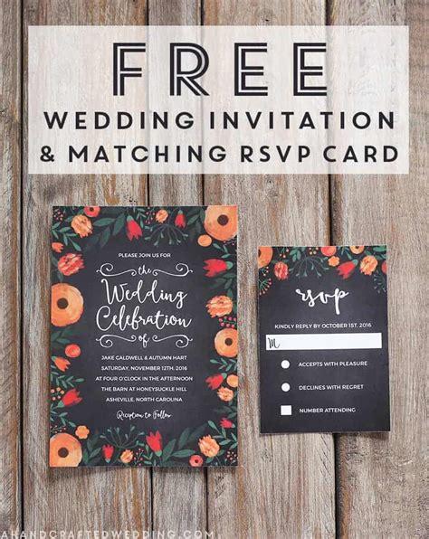 FREE Whimsical Wedding Invitation Template Mountain