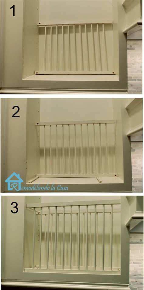 diy  cabinet plate rack remodelando la casa