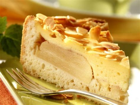 Apfel-pudding-kuchen Mit Mandeln Rezept