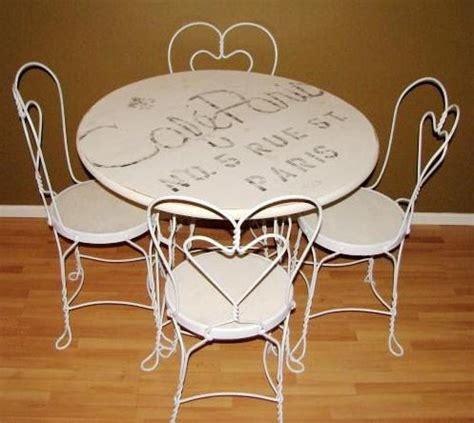 sale  nice  ice cream parlor table  chairs