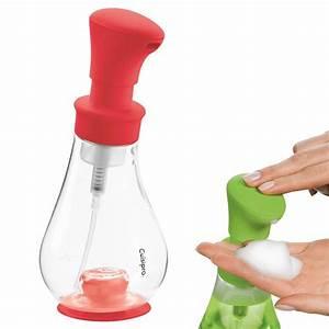 Pompe A Savon : distributeur de savon pompe mousse cuisipro 390ml rouge ~ Teatrodelosmanantiales.com Idées de Décoration