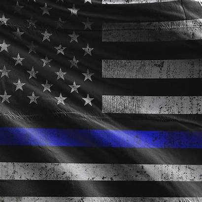 Thin Flag Line Police Brave