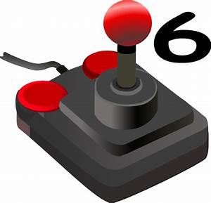 Joystick Six Clip Art at Clker.com - vector clip art ...