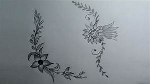 How to draw a flower designs | simple flower designs ...