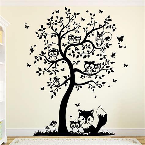 Wandtattoo Bilderrahmen Baum by Wandtattoo Baum Mit Eulen Eulenbaum Eule M1542