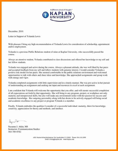 a recommendation letter for student to college compudocs