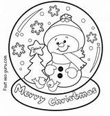 Coloring Snow Cone Pages Globe Christmas Printable Getcolorings Snowman sketch template