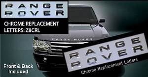 Range rover accessories range rover chrome letters range for Range rover replacement letters