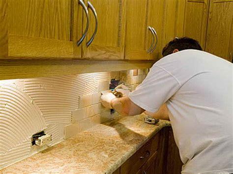 how to install a kitchen backsplash kitchen how to install backsplash with the edge how to