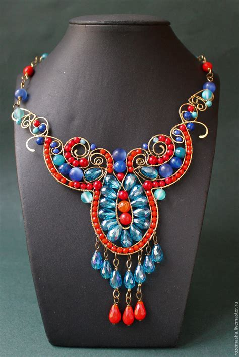 Statement Wire Wrapped Gemstone Jewelry by Rozemasha - The ...