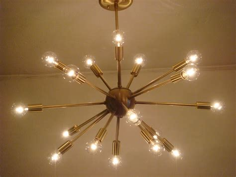 sputnik starburst light fixture chandelier lamp satin