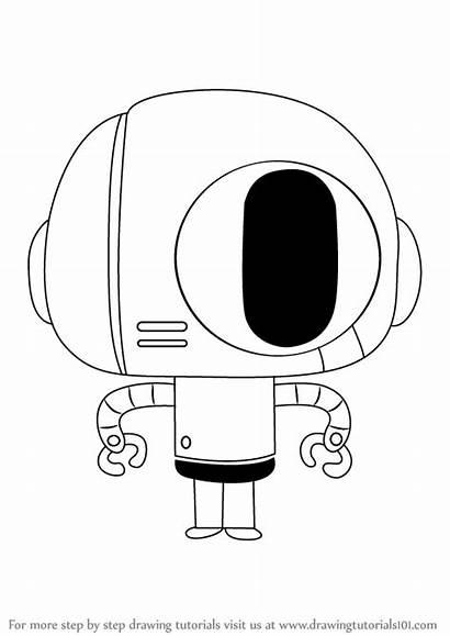 Gumball Amazing Bobert Draw Step Drawing Tutorials
