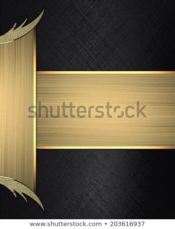 Abstract Black Ribbon Black Background Design by Design Template Background Black Yellow Stripes Stock