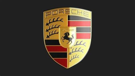 3d Porsche Logo Emblem