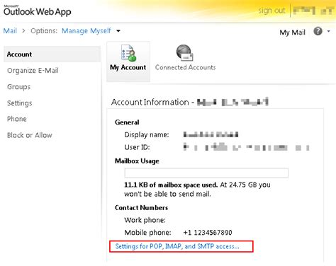 outlook365 imap pop3 and smtp settings limilabs