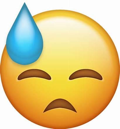 Emoji Sweat Iphone Ios Emojis Faces Icons