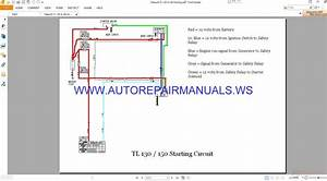 Takeuchi Tl 130  U0026 150 Starting Circuit Wiring Diagram
