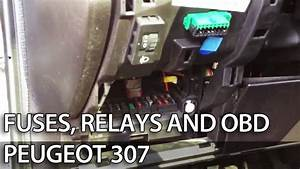 Where Are Fuses  Relays And Obd Port In  Peugeot  307  Fuse Box  Obd2   Cars
