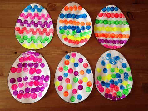 cork painted easter egg craft easter craft preschool