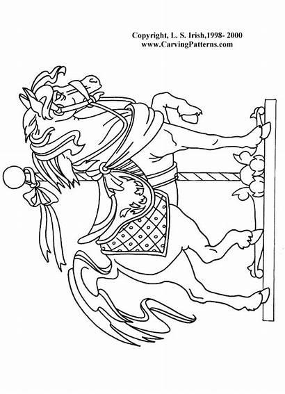 Horse Burning Patterns Carousel Wood Pattern Animal