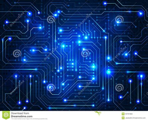 Circuit Board Digital Abstract Background Stock Vector
