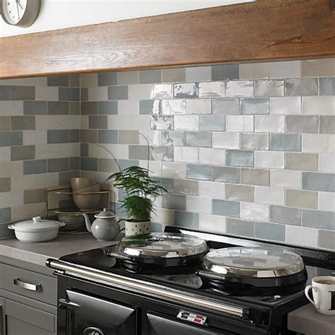 Wickes Farmhouse Willow Ceramic Tile 150 X 75mm  Wickescouk