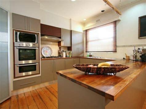 bar cuisine bois modele cuisine ouverte avec bar cuisine 8 plans de