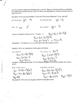 dentrodabiblia arithmetic sequences worksheet answers