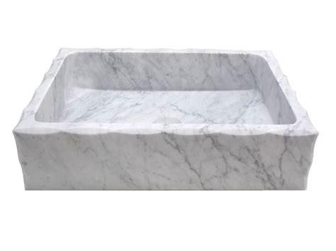 rectangular stone vessel sink eden bath antique rectangular carrara marble vessel sink