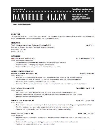 resume headers sles