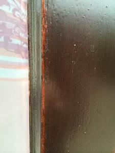 Blasenbildung beim Fenster streichen (Holz, lackieren, Maler)