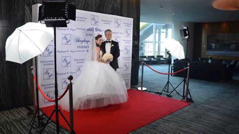 red carpet photo station fairmont pacific rim wedding