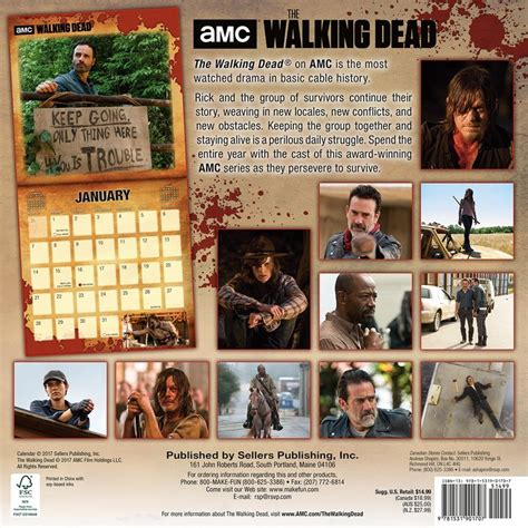 walking dead calendars ukpostersabposterscom