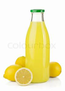 Bottle of lemon juice and fresh lemons | Stock Photo ...