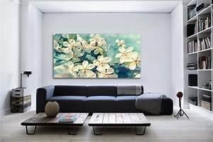 Decoration Murale Tableau : tableau decoration fleurs printemps izoa ~ Teatrodelosmanantiales.com Idées de Décoration