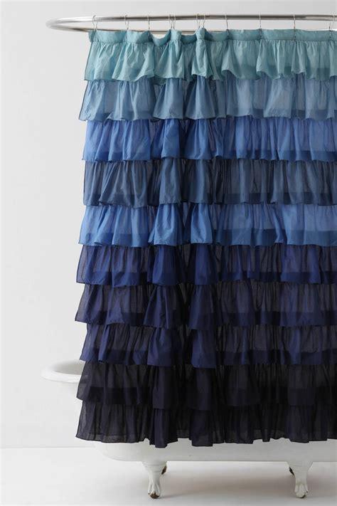 antropologie blue shower curtain homy home