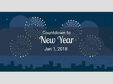 Happy New Year 2018 Countdown, New Years Eve 2018 Countdown
