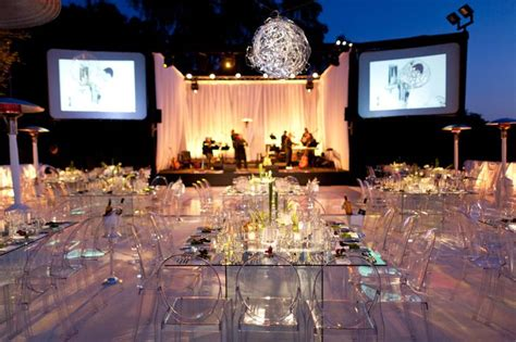 modern glass tables ghost chairs wedding