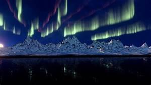 Wallpaper, Northern, Lights, Mountains, 4k, Nature, 17045