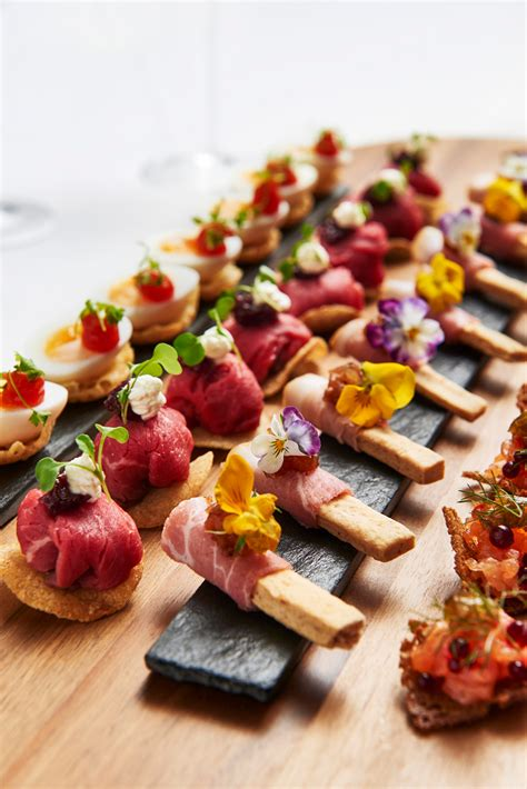 m canapes recipes from bafta 195 piccadilly chef anton manganaro