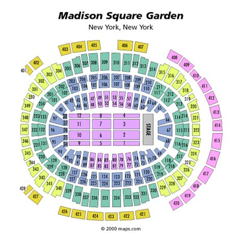 square garden seating chart with seat numbers msg seating chart concert seat numbers brokeasshome
