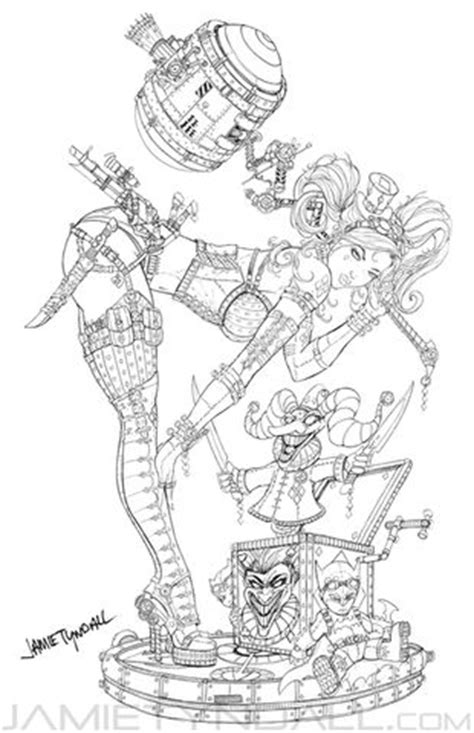 Steampunk Harley Quinn Coloring page | Coloring Is For