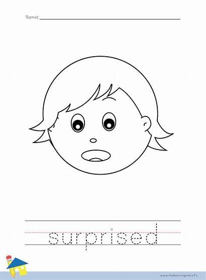 Coloring Worksheet Suprised Feeling Feelings Surprised Worksheets