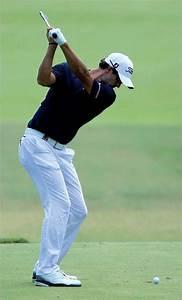Swing analysis of Masters Champion Adam Scott - Down the line