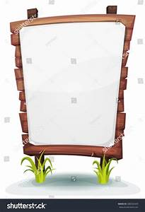 White Paper Sign On Wood Panel Stock Vector 288342449 ...