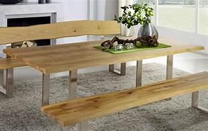 Esstisch Massivholz Baumkante : esstisch 220x76x100cm baumkante metallf e wildeiche ge lt ~ Orissabook.com Haus und Dekorationen