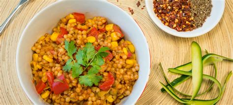 moroccan pearl couscous pilaf