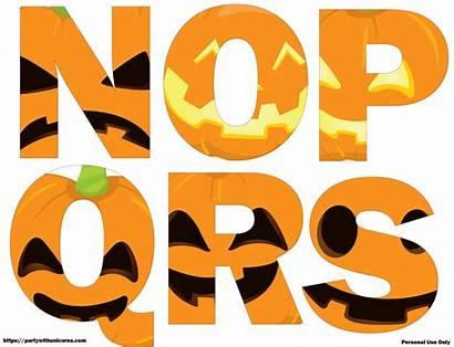 Halloween Letters Printable Jack Lantern Faces Letter