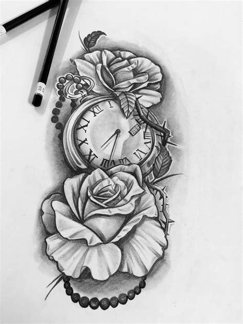 Futuras | Tatuajes de relojes, Tatuaje reloj y rosa, Tatuajes