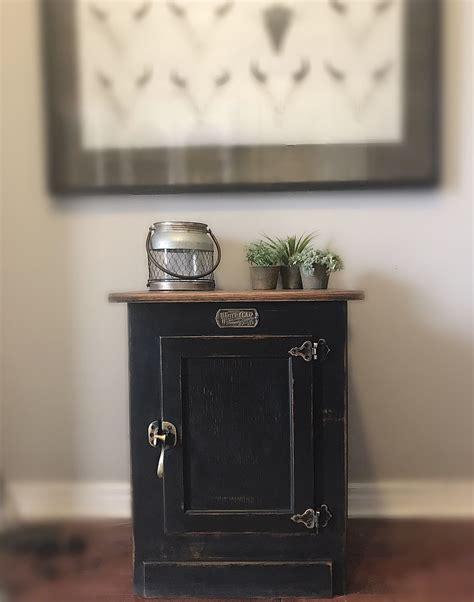 unique vintage black cabinet white clad solid wood